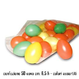 UOVA COLORATE IN PLASTICA - CONF. 50 PZ.
