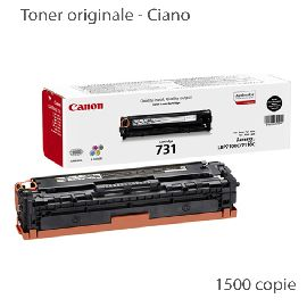 CARTUCCIA TONER CIANO 731BK PER LBP 7100CN (1.500PG) 1PZ