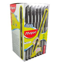 PENNA SFERA ICE MAPED NERO CONF.50PZ
