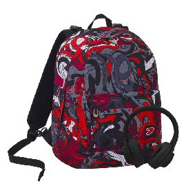 ZAINO SEVEN REVERSIBILE THE DOUBLE BACKPACK FLAME