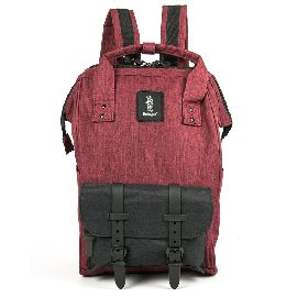 ZAINO REFRIGUE BACKPACK DARK RED BLACK