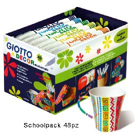 GIOTTO DECOR MATERIALS SCHOOLPACK 48 PZ